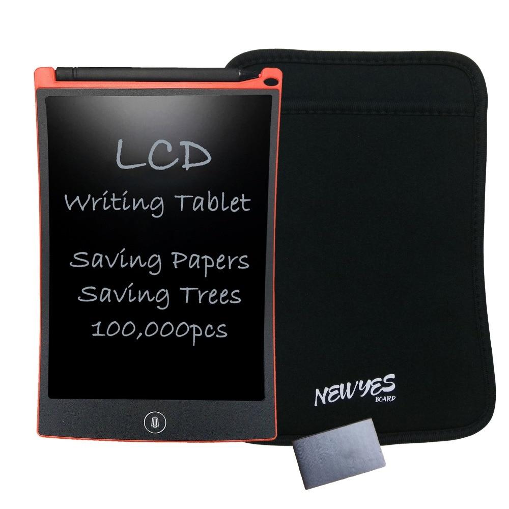 NEWYES eWriter 레드 8.5 인치 LCD 디지털 그리기 필기 패드 아동용 선물용 ABS 타블렛 슬리브 및 자석 무료 배송