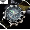 New AMST Mens Watches Luxury Brand Famous Military Sport Watch LED Digital Quartz Men Clock Dual Display Wristwatches AM3004