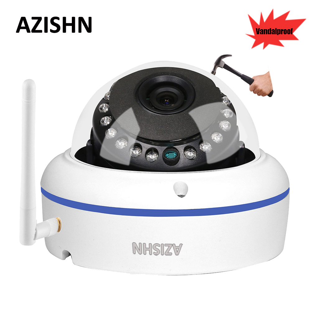 AZISHN Vandalproof Wifi Wired IP Camera 720P/960P/1080P Yoosee Motion Detection IP66 15IR CCTV Camera Support SD Card Up To 128G azishn yoosee wifi onvif ip camera 1080p 960p 720p wireless wired p2p alarm cctv outdoor camera with sd card slot max 128g