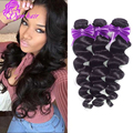 Grade10A 100% Unprocessed Virgin Peruvian Loose Wave 3 Bundles Hair Extension Peruvian Virgin Human Hair Weaving 2016 hair Style