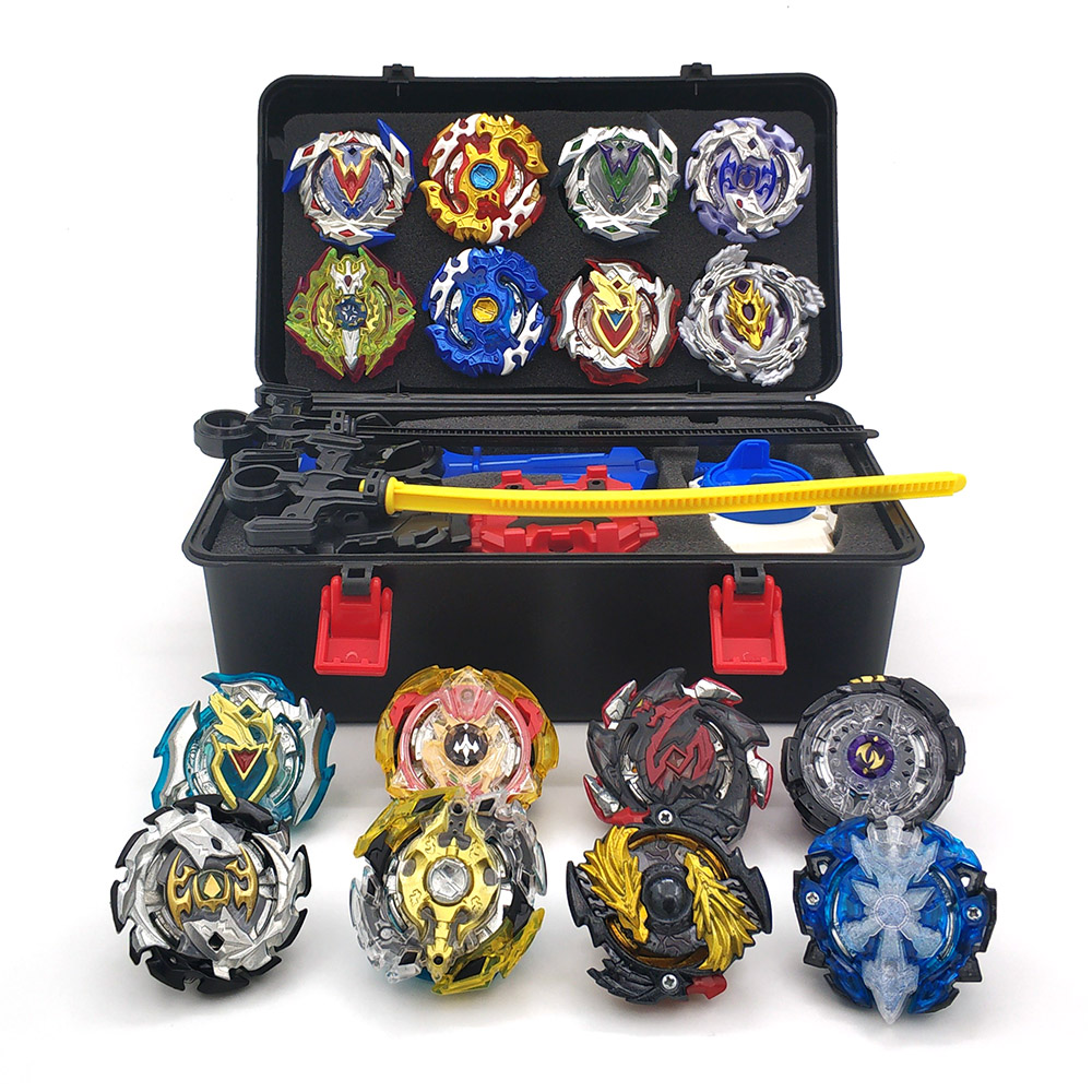 12PCS Top Beyblade burst Set bey blade Box with Launcher Beyblades Metal Fusion Beyblade Toys For Children bayblade Spinning Top цена