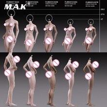 1/6 Scale Female Body S24A S25B S26A S27B Super-Flexible Petite Seamless Bodies Suntan/Pale Colors Model for 1:6 Action Head