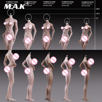 1/6 Scale Female Body S24A S25B S26A S27B Super-Flexible Petite Seamless Bodies Suntan/Pale Colors Model for 1:6 Action Head 1 6 ph sexy female super flexible seamless body medium breast suntan pale action figure doll toys without head for kumik head