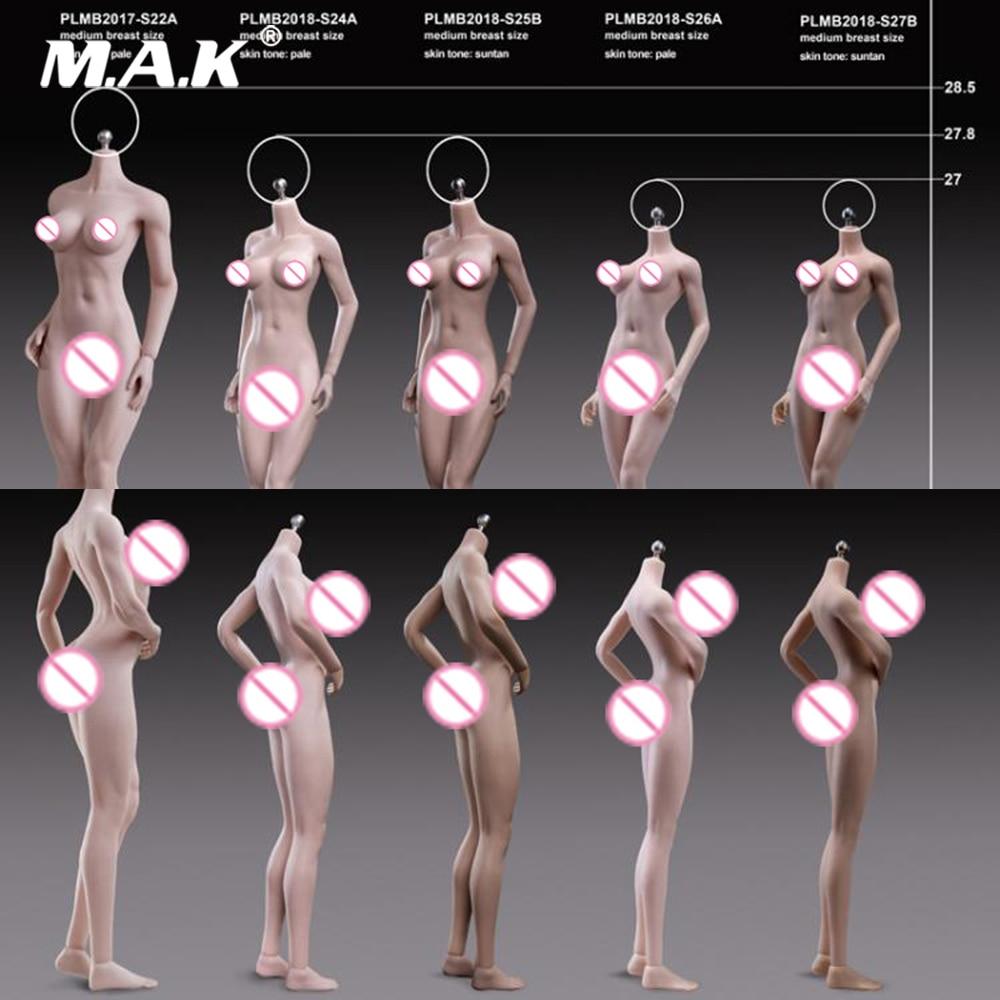 Oyuncaklar ve Hobi Ürünleri'ten Aksiyon ve Oyuncak Figürleri'de 1/6 Ölçekli Kadın Vücut S24A S25B S26A S27B Süper Esnek Petite Dikişsiz Organları Güneş/Soluk Renk Modeli 1:6 Aksiyon Kafa'da  Grup 1