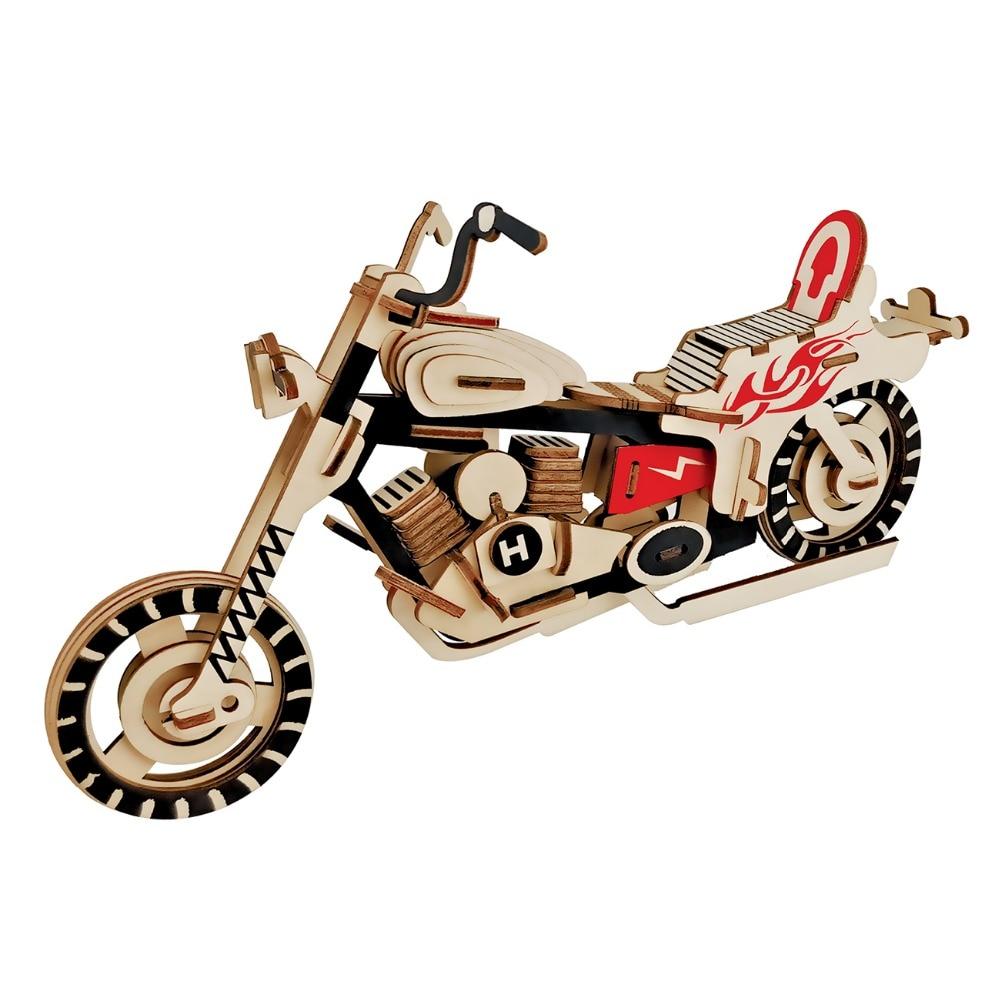 New 3D Wooden Puzzle Toys Automobile Model Kits Vintage ...