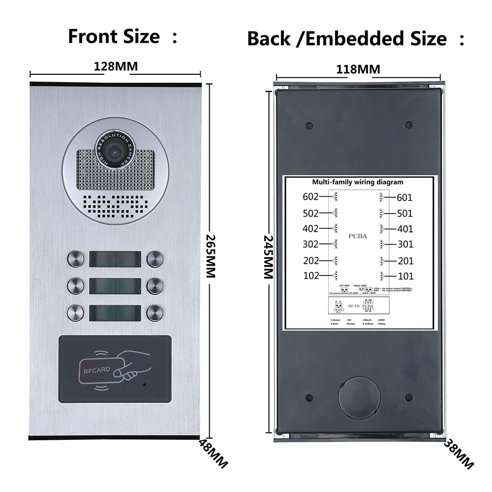 porta telefone campainha intercom sistema rfid IR-CUT