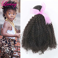 Rosa Hair Products Peruvian Afro Kinky Curly Virgin Hair Weaves 1Piece Lot 7A Afro Kinky Curly Virgin Hair 100g/pc Natural Black