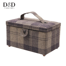Buy One Get Free Sewing Tools Sewing Storage Box Wood&Fabric Covered Crafts Sewing Kits Organizer Christmas Gift Box for Mother