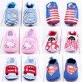 Otoño del resorte del bebé Girls preciosos zapatos sin cordones primer caminante de algodón suave del bebé del Prewalker infantil para caminar los zapatos del pesebre