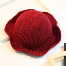 Winter Knitted Fisherman Bucket Hats For Women Female Solid Color Fashion Warm  Hat Spring Pure Color 728e46daaeb4