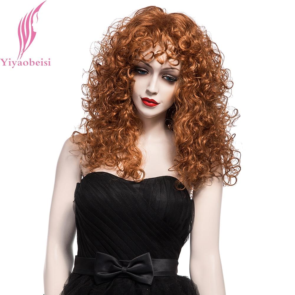 Yiyaobess 20inch Puffy Long Curly Parykar För Kvinnor Syntetisk - Syntetiskt hår - Foto 1