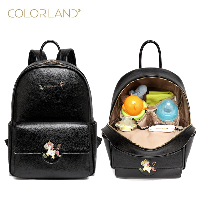 Colorland Pu leather baby travel mummy maternity changing Nappy diaper tote bag backpack baby orgenizer Bags bolsa maternidad baby mom changing diaper tote wet bag for stroller mummy maternity travel nappy bag backpack messenger bags bolsa maternidad