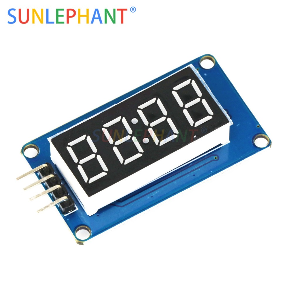 TM1637 <font><b>LED</b></font> Display Module For Arduno <font><b>7</b></font> <font><b>Segment</b></font> <font><b>4</b></font> <font><b>Bits</b></font> 0.36 Inch Clock RED Anode Digital Tube Four Serial Driver Board Pack image