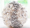 H007 Casamento Bouquets Handmade Wedding Party Bouquet Crystal Bridal Flowers Roses Vintage Brooch Bride Bouquet Bridesmaid New