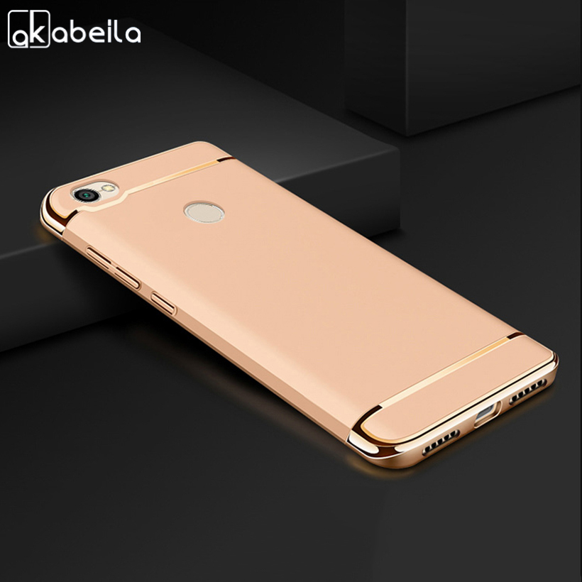 AKABEILA Plating Plastic Case For Xiaomi Redmi Note 5A Case Back Cover Coque Funda for REDMI Y1 LITE Note5A Anti-Knock Etui