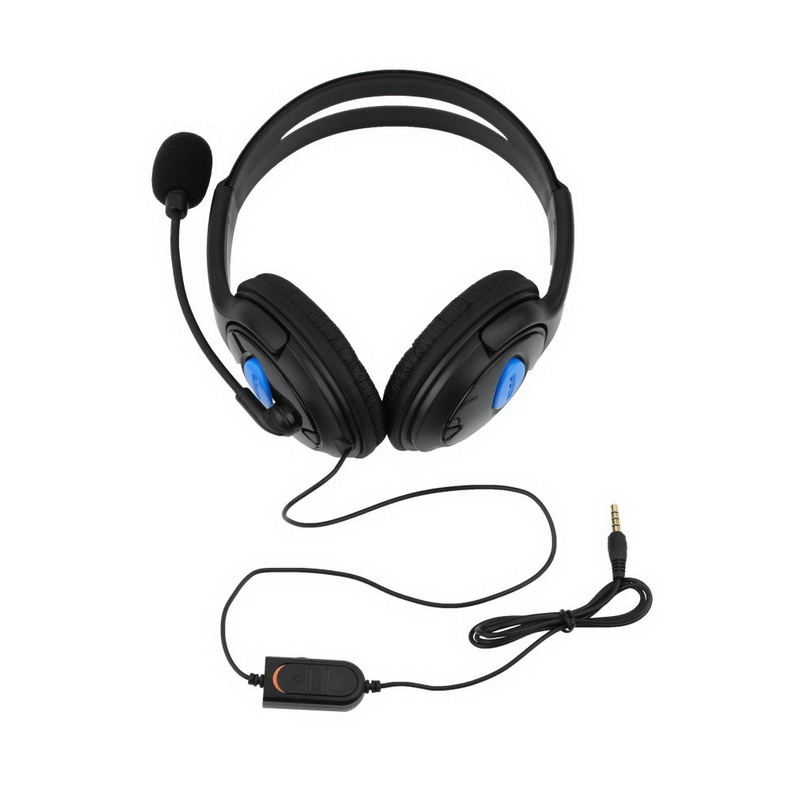 Black 3.5mm Headphone Headset With Microphone Wired for Sony PS4 PlayStation 4 /PC Computer Game Gaming Earphone T0.11