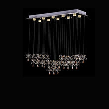 Rectangular Curtain Wave Lustre Led Crystal Chandelier Light Fixture Home Lighting Kitchen Room Lamp 100% Crystal Pending(China)