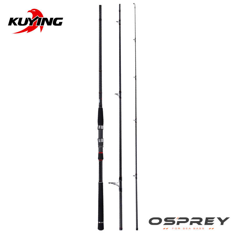 """Kuying O-SPREY 2.7 M 9'0 """"3 M 10' Dụ MH Cứng Trung Bình Carbon Câu Cá Cần Fuji Cá Chẽm bass Mía Dính Trung Bình Nhanh"""