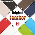 GRANDBOOM Estilo Oficial Original 1: 1 pu couro capa hard case para iphone 7 6 6 s plus se 5 5S casos de telefone com o logotipo original
