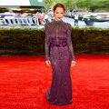 Новый русалка знаменитости платье красного ковра горячие шея полная длина кристаллы элегантный вечерние платья с длинными рукавом