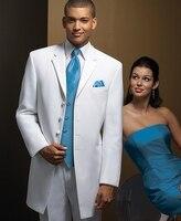 SlimSwallow Tailed Coat Four Buttons Notch Lapel Custume Homme 3Pieces High Quality Wedding Men Suits