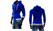Fashion Men Hoodies Jacket Clothing Casual Slim Sweatshirt Zipper Hoodie