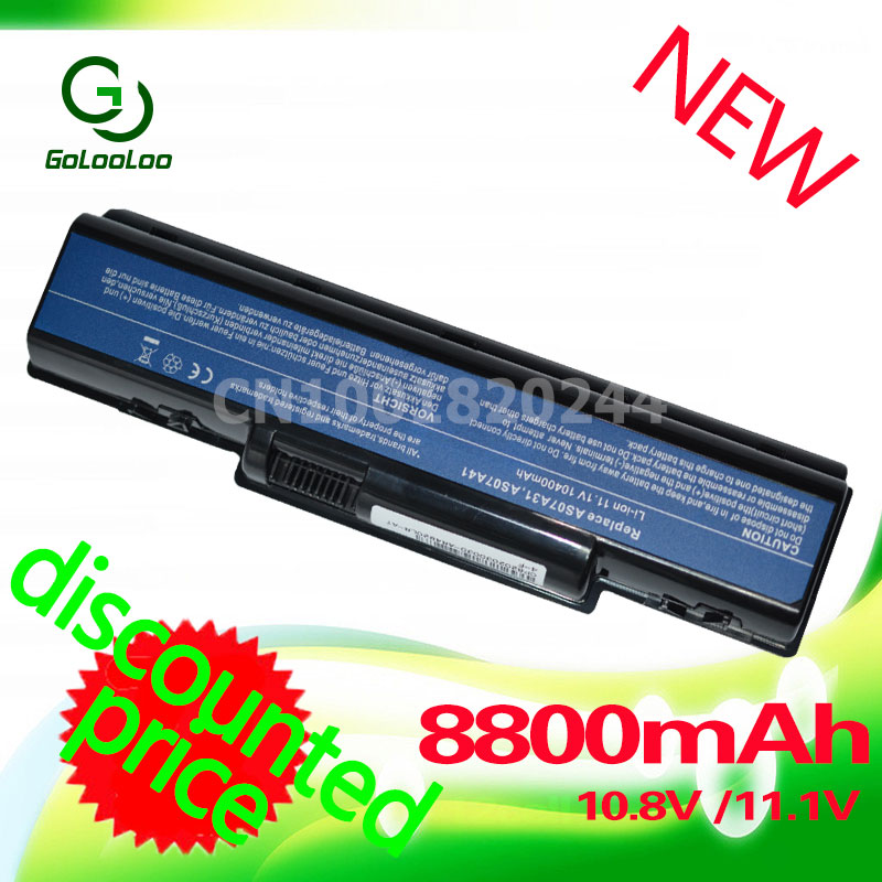 Golooloo 8800MaH Battery for AcerAS07A31 AS07A32 AS07A42 AS07A72 AS07A75 4925G 4930 4930G 4935 4935G 4937 4937G 5236 5241 5334 image