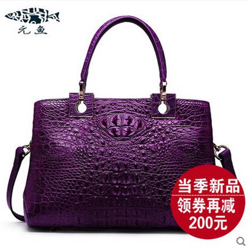 YuanYu 2018 new crocodile handbag crocodile leather female bag bag of one shoulder women bag yuanyu the new crocodile skin female bag imported crocodile leather single shoulder bag genuine handbag alligator women handbag