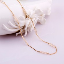 Luxury Champagne Gold Color Chain Necklace JSN047
