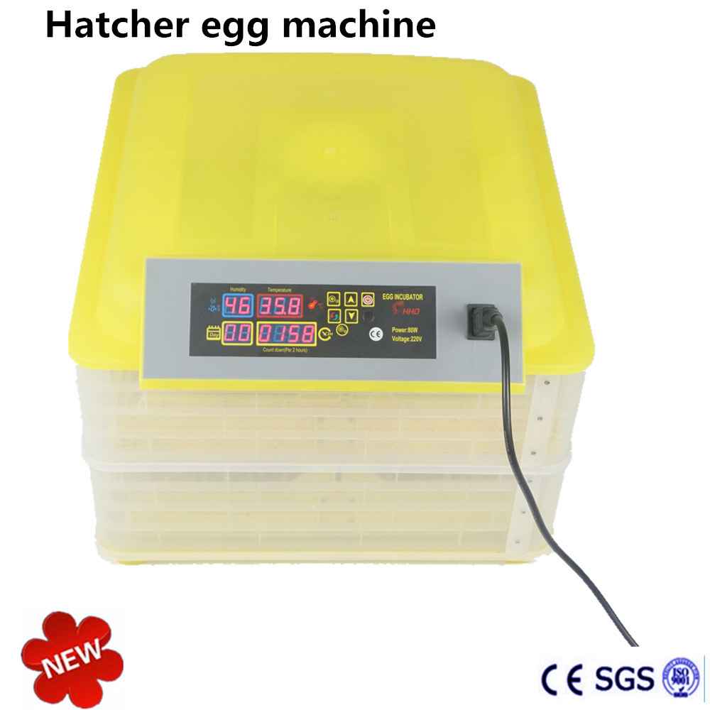 ФОТО  96 Mini Eggs Incubator  Automatic Incubator Equipment Advance Turn Tray Hatching Egg Incubators Poultry Hatchery Machine