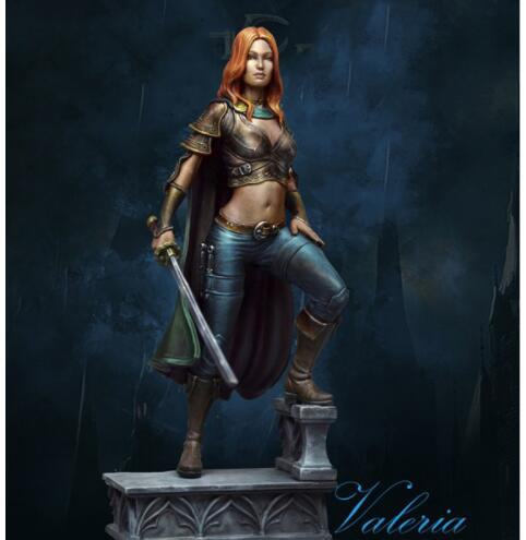 1/24 75MM VALERIA Soldier With BASE   Resin Model Miniature  Figure Unassembly Unpainted