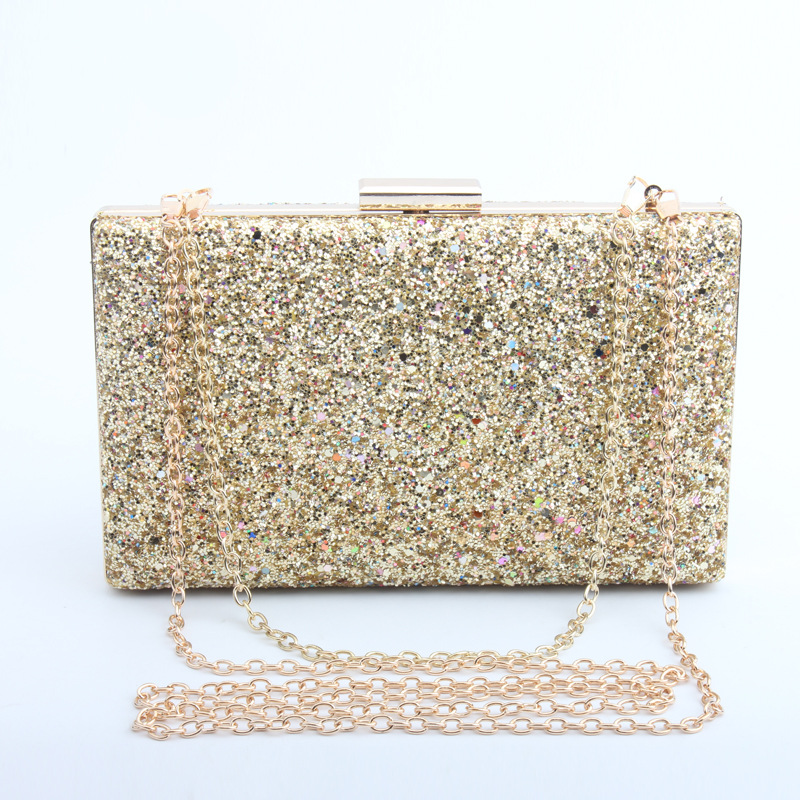 Glitter Women Beaded Clutches Evening Bags With Chains Handbag Wedding  Dress Bag Party Purse Banquet Shoulder Bag-in Top-Handle Bags from Luggage    Bags on ... c4a0f399e9d6