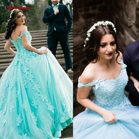 Lace Quinceanera Dresses Ball Gown Tulle Prom Debutante Sweet 16 Dress vestidos de 15 anos
