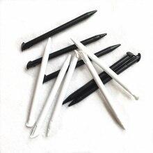 100 pçs/lote substituição de plástico para nintend nova 3ds xl 3ds ll stylus tela toque caneta preto/branco