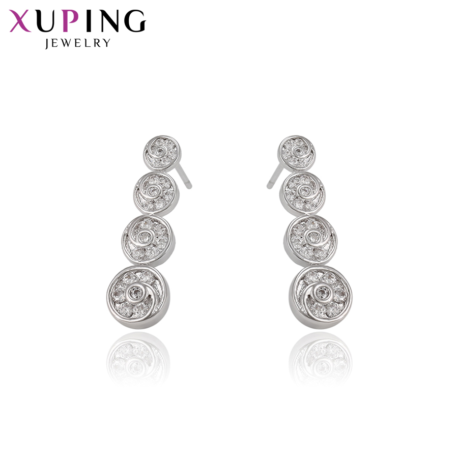 Drop Earrings Xuping Fashion Sweet Long Earrings With Synthetic Cubic Zirconia For Women Christmas Day Jewelry Gift S72,6-93626 Year-End Bargain Sale
