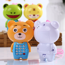 Children Cartoon Music Puzzle Toys Cute Animal Model Light Sound Musical Toy Baby Early Education Learning Puzzle Gifts for Kids baby simulation camera toy children cartoon projection light music toy kids early education puzzle supplies toys