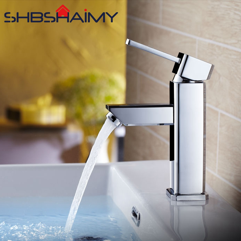 0 Chrome Polished Bathroom Basin Faucet Deck Mounted Single Handle Single Hole Cold and Hot Water Mixer Hair Washing Tap micoe hot and cold water basin faucet mixer single handle single hole modern style chrome tap square multi function m hc203