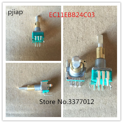 купить 1pcs ALPS dual EC11EBB24C03 dual encoder with switch 30, positioning number 15, pulse point handle 25mm по цене 883.97 рублей