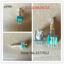 1pcs  ALPS dual EC11EBB24C03 dual encoder with switch 30, positioning number 15, pulse point handle 25mm