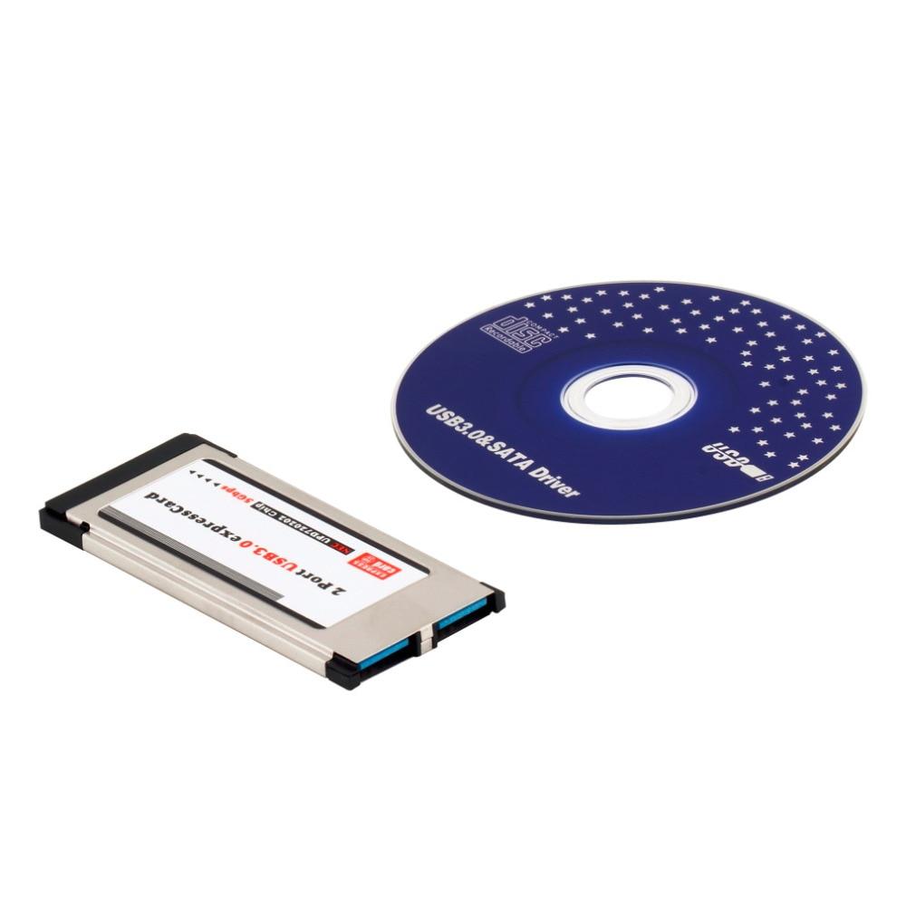 все цены на High Full Speed Express Card Expresscard to USB 3.0 2 Port Adapter 34 mm Express Card Converter New Arrival онлайн