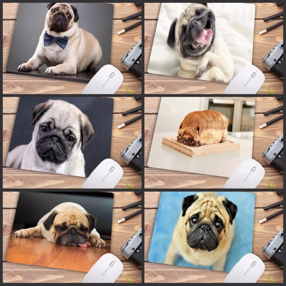 Mairuige Fashion Customized Cute Pug Dog Gaming Mouse Pad Anti-Slip Durable Rubber Mousepad Big Promotions For Russia Country