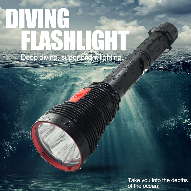 Wholesale Professional Waterproof Led Diving Flashlight 3 Mode XHP70 LED Underwater Torch Dive Flash Light With 26650 Battery 26650 diving flashlight 3 mode xhp70 led torch flash light 31100lm for diver hunting camping hiking lanterna ip88 waterproof