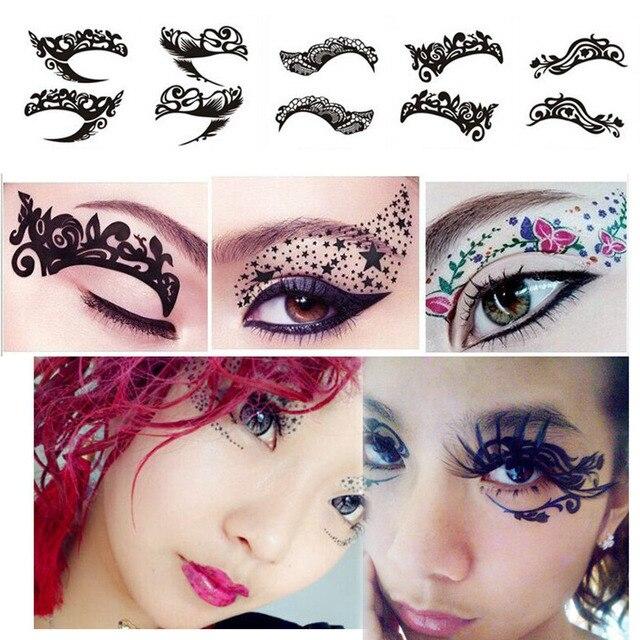 temporary tattoo eyeshadow lace sticker eyeshadow liner eyelid makeup decoration eye stickers. Black Bedroom Furniture Sets. Home Design Ideas