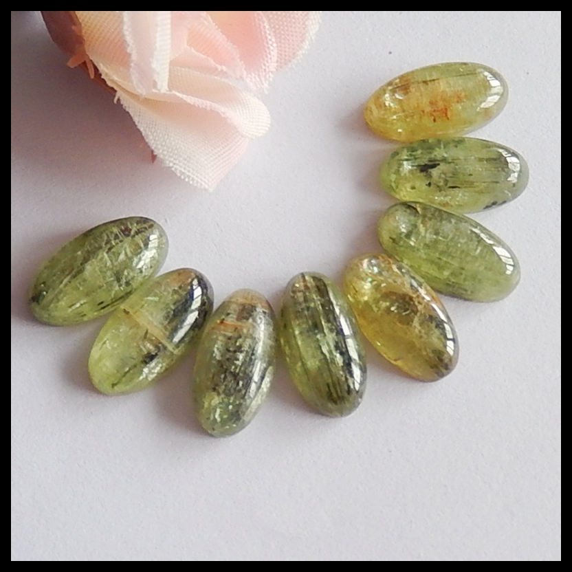 Kyanite Cabs 10MM Kyanite Round Cabochons Super Fine Quality Cabs,Pack of 5 pc.