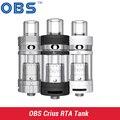 Original OBS Crius RTA Tanque Vaporizador Cigarrillos Electrónicos 4.2 ml Relleno Lateral Superior Fácil Rebuildable Atomizador para e cigarette envío gratis