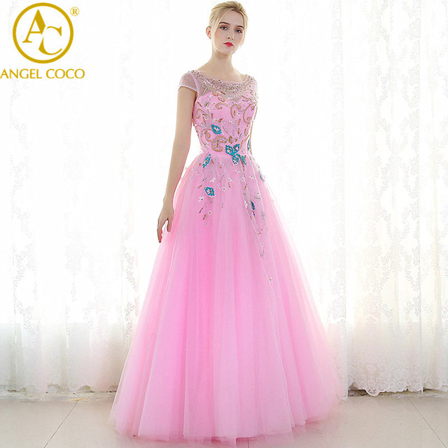 Amazing Pink Evening Gown Prom Dresses Long Formal Abendkleider ...