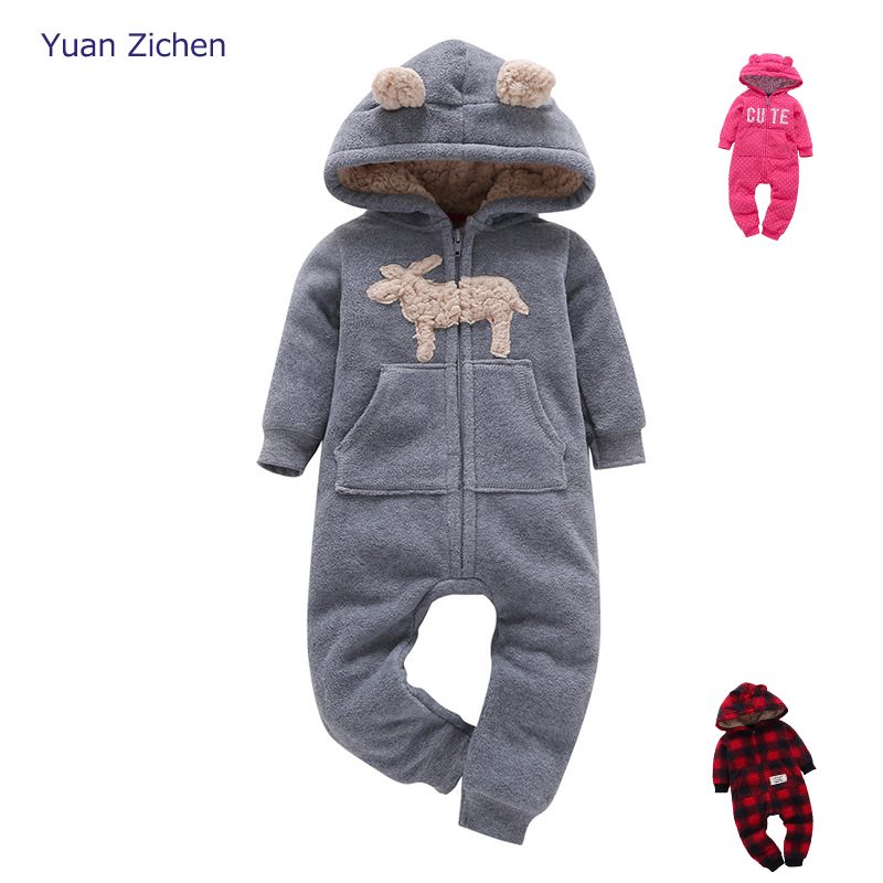 Baby Clothes Winter Romper Cotton Padded Thick Newborn Baby Girl Boy Warm Jumpsuit Autumn Overalls Children's Clothing For Boys he hello enjoy baby girl clothes sets autumn winter long sleeved cartoon thick warm jacket skirt pants 2pcs suit baby clothing