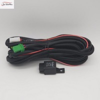 JanDeNing For Fog Light Lamp Wiring harness Kit wire Fuse Switch Relay for H11 bulb For Toyota /Honda/ Nissan Vehicles