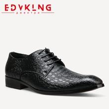 40 45 big size EDVKLNG Men Dress shoes Handsome comfortable Brand PU men font b oxfords