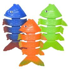 3pcs Summer Pool Toys Diving Green Plastic Fish Water Children Training Swimming Se